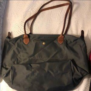 Longchamp Le Pilage bag. Large. Slate grey.